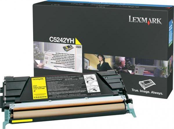 Laserové tonery - Lexmark C5242YH yellow - originál