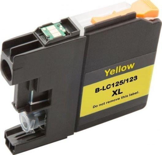 Atramentové kazety - Brother LC-123 XL yellow - kompatibilný