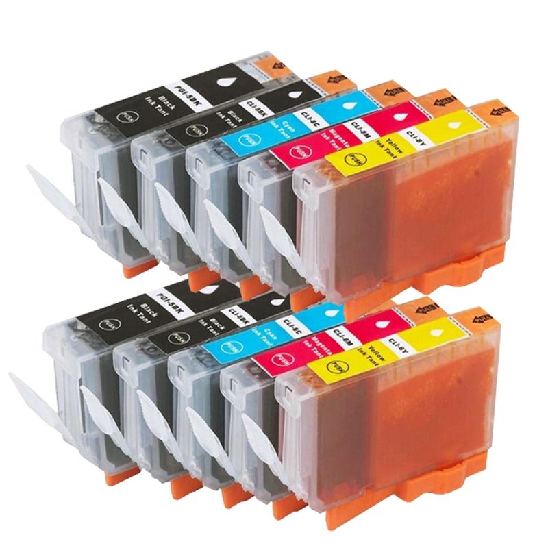 Atramentové kazety - Canon PGI-5, CLI-8 multipack, CMYK (10 kusov) - kompatibilný