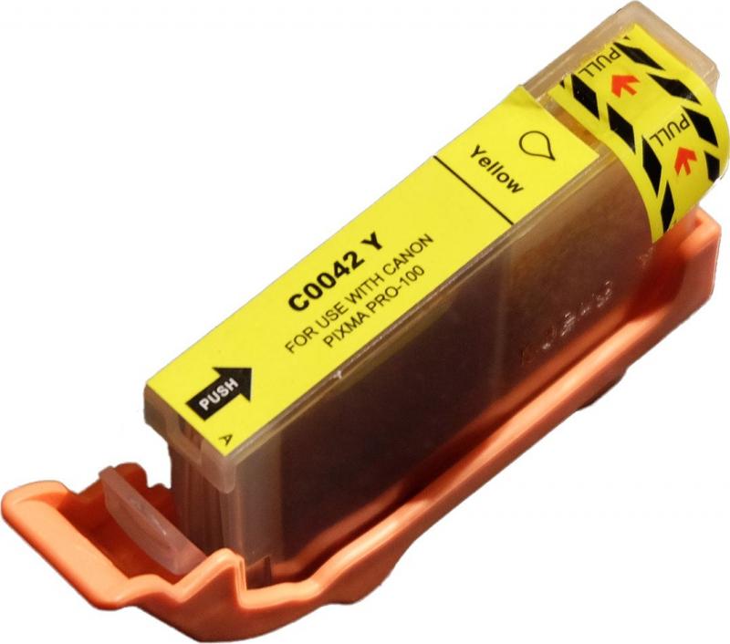 Atramentové kazety - Canon CLI-42Y yellow - kompatibilný