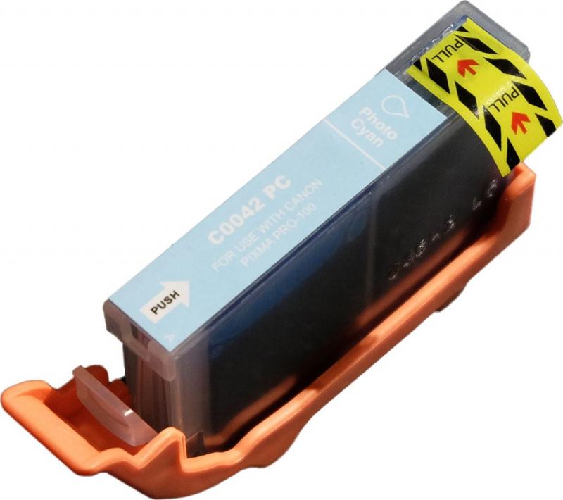 Atramentové kazety - Canon CLI-42PC photo cyan - kompatibilný